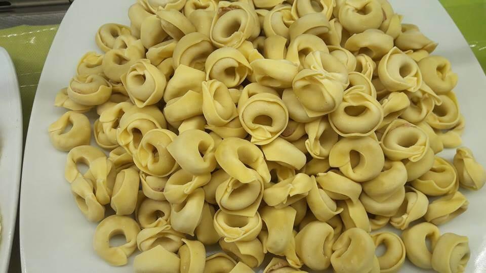 Tortellini con prosciutto crudo di Parma, grana padano